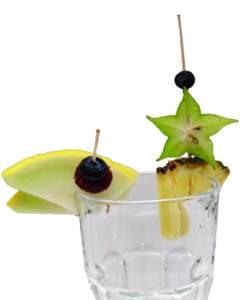 Ananaskeil, Melonenkeil, als Cocktailsdeko