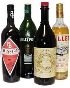 Wermut und Weinliköre für Cocktails