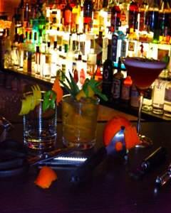 Zesten als Cocktaildeko